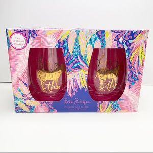 Lilly Pulitzer | Herd That Stemless Wine Glasses